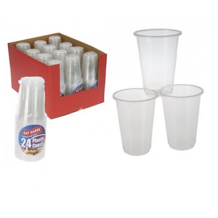 Basic Clear Plastic Cups 250ml (24)