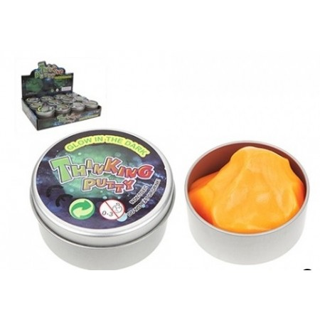 Wholesale Glow in the Dark Smart Putty in Tin Tub