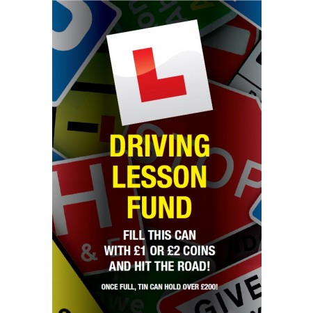 Driving Lesson Fund Savings Tin - (SM)