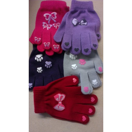 Girls Magic Gloves with Rubber Print