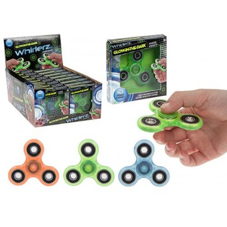Wholesale Whirlerz Glow in the Dark Finger Fidget Toy