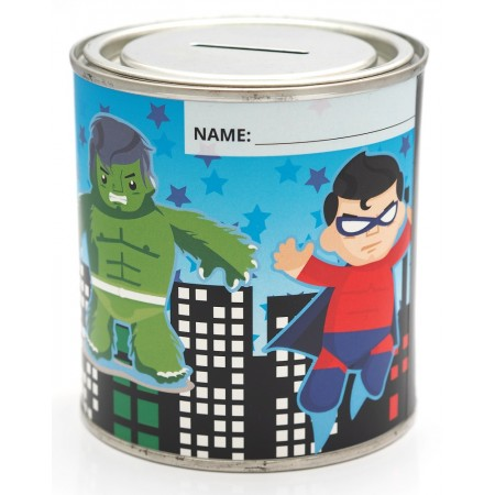 Super Hero Money Tin - 500ml