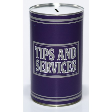 Tips and Service Money Tin - (LRG)