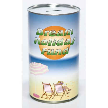 Dream Holiday Fund Savings Tin - (LRG)