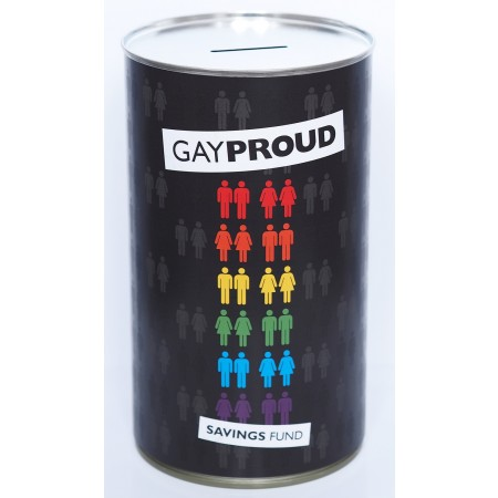Gay Proud Savings Fund Tin - (LRG)