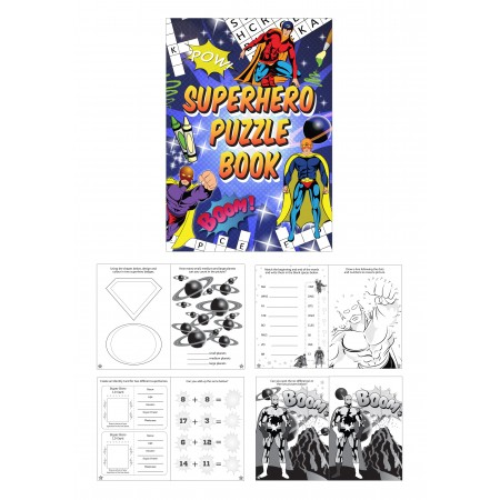 Super Hero Fun Puzzle Mini Book