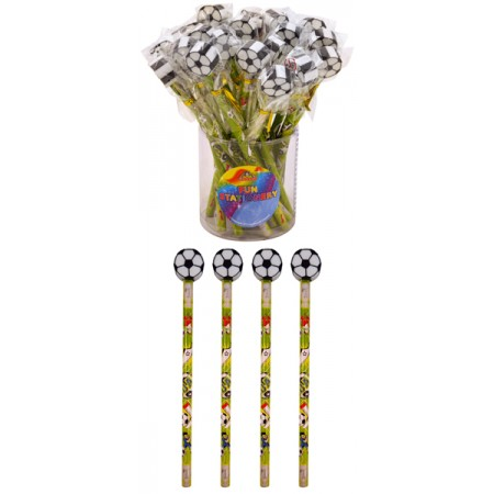 Football Pencil with Eraser