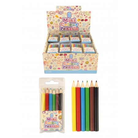 Colouring Pencils Half Size 6pcs