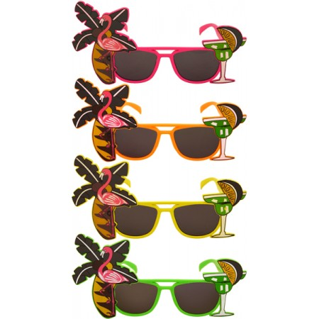 Adult Neon Flamingo Glasses