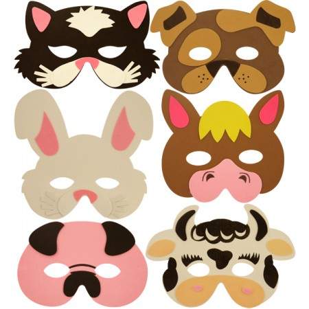 Wholesale Kids Farm Animal Eva Mask