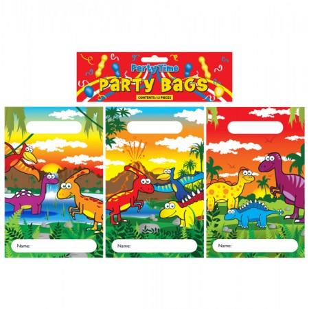 12 Dinosaur Party Bags