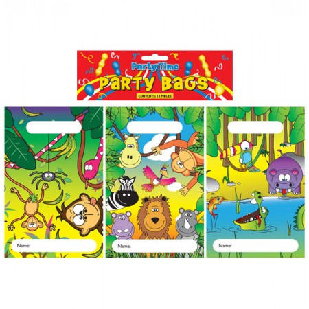 12 Jungle Party Bags