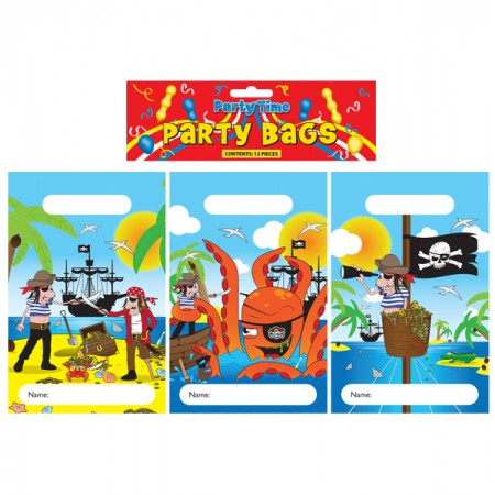 12 Pirate Party Bags