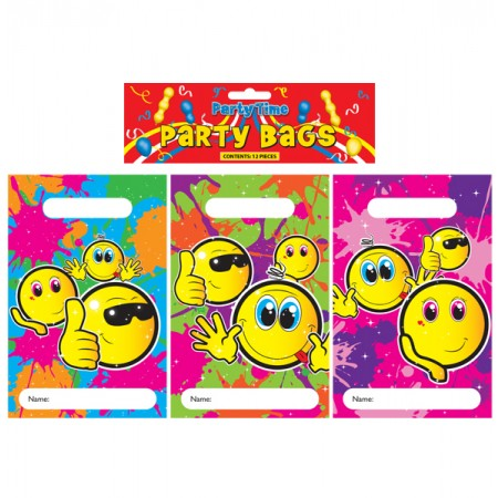 12 Smiley Party Bags