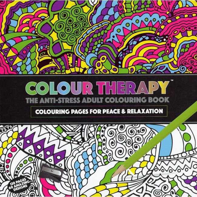 Colour Therapy 120 Page Adult Colouring Book