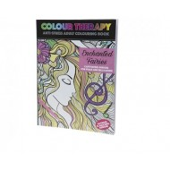 Colour Therapy 64pg Fairies Adult Colouring Book