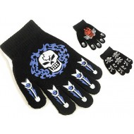 Boys Magic Gloves Skull & Cross Print