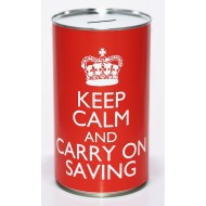 Keep Calm & Carry on Saving - (LRG)