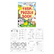 Farm Animals Fun Puzzle Mini Book